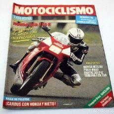 Coches y Motocicletas: REVISTA MOTOCICLISMO - NUMERO 980 - 20 NOVIEMBRE 1986 - HONDA NSR 250 R HONDA CARDUS NIETO SITO. Lote 74640291