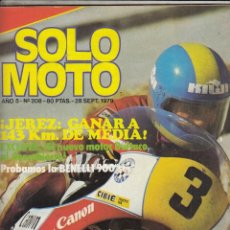 Coches y Motocicletas: REVISTA SOLO MOTO ACTUAL Nº 208 AÑO 1979. PRUEBA: BENELLI 900 SEI. . Lote 75238623