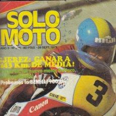 Coches y Motocicletas: REVISTA SOLO MOTO ACTUAL Nº 208 AÑO 1979. BENELLI 900 SEI. . Lote 75238911
