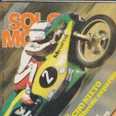 Coches y Motocicletas: REVISTA SOLO MOTO ACTUAL Nº 185 AÑO 1979. COMP: BULTACO SHERPA 350, OSSA TRIAL 350, MONTESA COTA 348. Lote 75240511