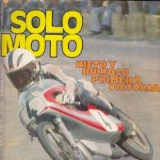 Coches y Motocicletas: REVISTA SOLO MOTO ACTUAL Nº 28 AÑO 1978. PRUEBA: MOBYLETTE 4V. ITALJET 50. MONTESA COTA 348. . Lote 76178503
