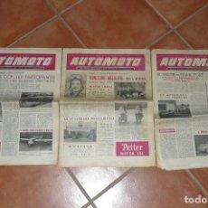 Coches y Motocicletas: OIGO OFERTA LOS 3 PRIMEROS NUMEROS DE AUTOMOTO, AÑO 53-54. Lote 79100469