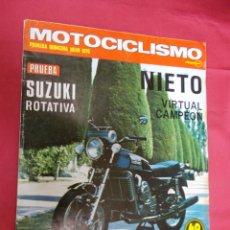 Coches y Motocicletas: MOTOCICLISMO. PRIMERA QUINCENA JULIO 1975. PRUEVA SUZUKI ROTATIVA.. Lote 79544165
