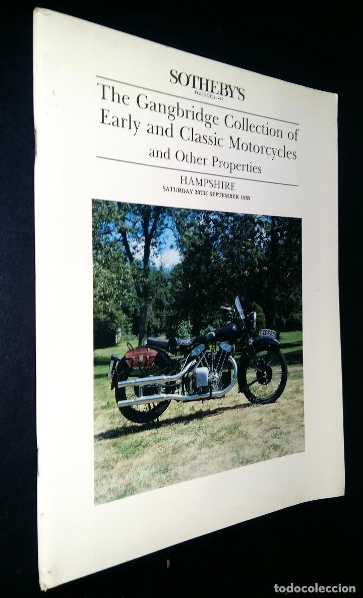 SOTHEBY´S / THE GRANGBRIDGE COLLECTION OF EARLY CLASSIC MOTORCYCLES / HAMPSHIRE / 30 SEPTEMBER 1989 (Coches y Motocicletas - Revistas de Motos y Motocicletas)