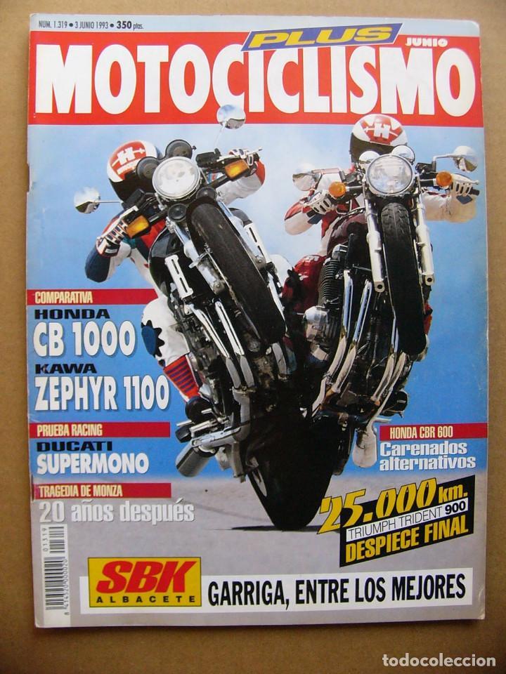 MOTOCICLISMO 1319 HONDA CB 1000 KAWASAKI ZEPHYR 1100 TRIUMPH TRIDENT 900 PEUGEOT SV 50 (Coches y Motocicletas - Revistas de Motos y Motocicletas)