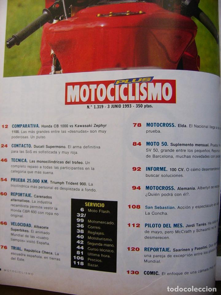 Coches y Motocicletas: Motociclismo 1319 Honda CB 1000 Kawasaki Zephyr 1100 Triumph Trident 900 Peugeot SV 50 - Foto 2 - 81234128