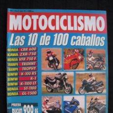 Coches y Motocicletas: REVISTA MOTOCICLISMO - Nº 1270 - JUNIO 1992.. Lote 82117664