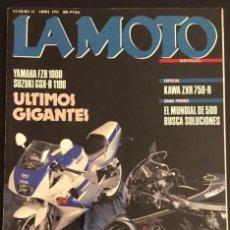 Coches y Motocicletas: REVISTA LA MOTO NUMERO 12 ABRIL 1991 YAMAHA FZR 1000 SUZUKI GSX-R 1100 KAWASAKI ZXR 750 R. Lote 82279004