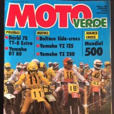 Coches y Motocicletas: REVISTA MOTO VERDE NUMERO Nº 66 ENERO DE 1984 DERBI 75 TT-8 EXTRA YAMAHA DT 80 BULTACO SIDE-CROSS . Lote 82319108