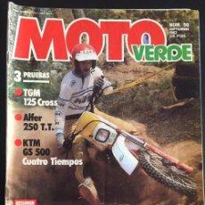 Voitures et Motocyclettes: REVISTA MOTO VERDE NUMERO Nº 50 SEPTIEMBRE 1982 TGM 125 CROSS ALFER 250 TT KTM GS 500. Lote 82319312