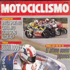 Coches y Motocicletas: REVISTA MOTOCICLISMO Nº 1262 AÑO 1992. PRUEBA: MOTO GUZZI QUOTA 1.000 I.E. HONDA CRM 75. . Lote 82344560