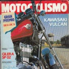 Coches y Motocicletas - REVISTA MOTOCICLISMO Nº 1168 AÑO 1990. PRUEBA: KAWASAKI VULCAN EN 500. GILERA SP 02 125. - 82345824