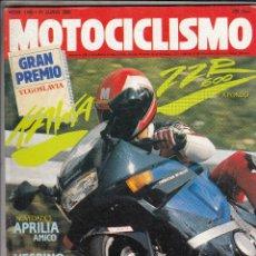Coches y Motocicletas: REVISTA MOTOCICLISMO Nº 1165 AÑO 1990. PRUEBA:KAWASAKI ZZR 600. COMP. CAGIVA COCIS 80, KTM GSR 80. Lote 109489747
