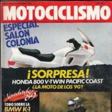 Coches y Motocicletas: REVISTA MOTOCICLISMO Nº 1076 AÑO 1988. PRUEBA: HONDA NTV 650. BMW K1. . Lote 82346880
