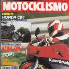 Coches y Motocicletas: REVISTA MOTOCICLISMO Nº 1110 AÑO 1989. PRUEBA: KAWASAKI ZXR 7, HONDA CB 1. COMPARATIVA: RIEJU RV 80. Lote 82348476