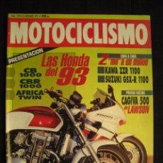 Coches y Motocicletas: REVISTA MOTOCICLISMO - Nº 1292 - NOVIEMBRE 1992.. Lote 82455240
