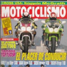Coches y Motocicletas: REVISTA MOTOCICLISMO Nº 1313 AÑO 1993. COMPARATIVA: KAWASAKI ZXR 750R Y YAMAHA YZF 750 SP. . Lote 82464776
