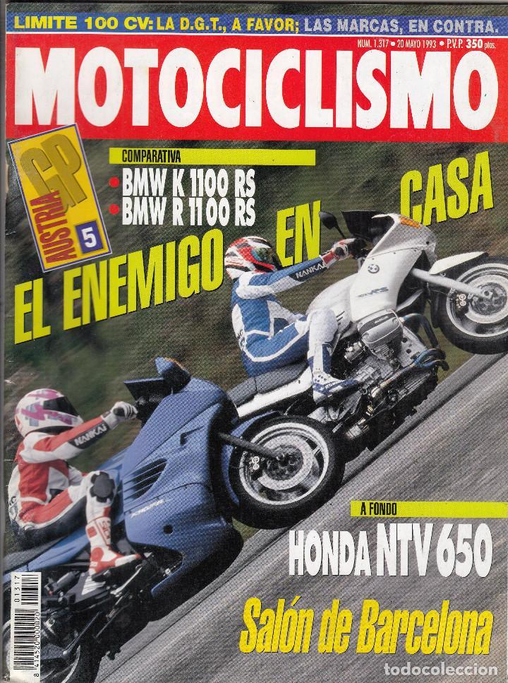 REVISTA MOTOCICLISMO Nº 1317 AÑO 1993. PRUEBA: HONDA NTV 650. COMP: BMW K 1100 RS Y BMW R 1100 RS. (Coches y Motocicletas - Revistas de Motos y Motocicletas)