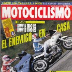 Coches y Motocicletas: REVISTA MOTOCICLISMO Nº 1317 AÑO 1993. PRUEBA: HONDA NTV 650. COMP: BMW K 1100 RS Y BMW R 1100 RS.. Lote 116158326