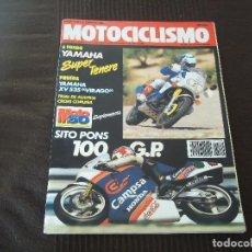 Coches y Motocicletas: REVISTA MOTOCICLISMO Nº 1120 AÑO 1989. PRUEBA: SUZUKI GSX 750 F. PRUEBA: KAWASAKI KDX 200. REPORTA. Lote 83045096