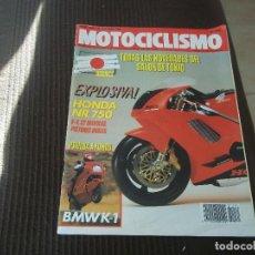 Coches y Motocicletas: MOTOCICLISMO Nº 1131 - OCT 1989 - BMW K1 / SALON TOKYO / CALAFAT / AMOS BILBAO / CARLOS MAS. Lote 83047680