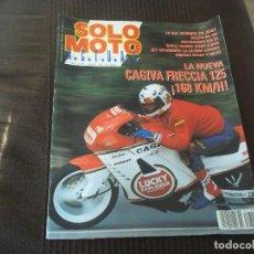 Coches y Motocicletas: REVISTA SOLO MOTO ACTUAL Nº 729 AÑO 1990. PRUEBA: CAGIVA FRECCIA 125. PRUEBA GILERA RC 125. REPORTAJ. Lote 83048648