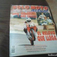 Coches y Motocicletas: REVISTA SOLO MOTO GRAN FORMATO 678 5/11 MAYO 1989 YAMAHA XV 535 VIRAGO KAWASAKI KLR 650.... Lote 83049776