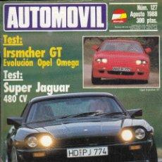 Coches y Motocicletas: REVISTA AUTOMOVIL Nº 127 AÑO 1988. PRU: OPEL IRSMCHER GT. JAGUAR XJS BRANDENBURGER. BMW 535I.. Lote 87583112