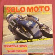Coches y Motocicletas: REVISTA SOLO MOTO. N-64. JUNIO 1988. Lote 85256836