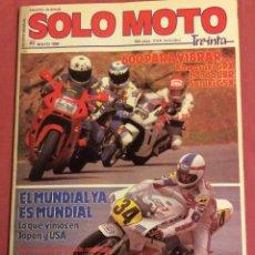 Coches y Motocicletas: REVISTA SOLO MOTO.N-63. MAYO 1988. Lote 85257048