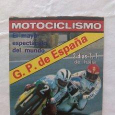 Coches y Motocicletas: REVISTA DE MOTOCICLISMO. Lote 87675540