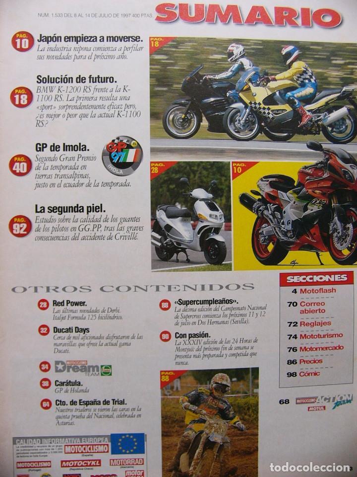 Coches y Motocicletas: Motociclismo 1533 Comparativa BMW K 1200 RS BMW K 1100 RS Novedades 1998 - Foto 2 - 87677240