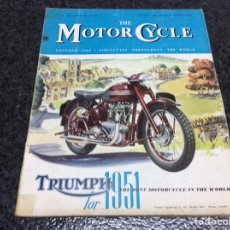 Coches y Motocicletas: THE MOTOR CYCLE - DECEMBER 1950 - TRIUMPH 1951. Lote 89409340
