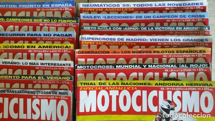 Coches y Motocicletas: LOTE DE MÁS DE 40 REVISTAS MOTOCICLISMO - AÑO 1994 - Foto 3 - 89537192