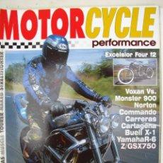 Coches y Motocicletas: REVISTA MOTORCYCLE PERFORMANCE Nº 13 - FOTO SUMARIO- VOXAN 1000 - BUELL X1 - NORTON COMANDO 850. Lote 90043468