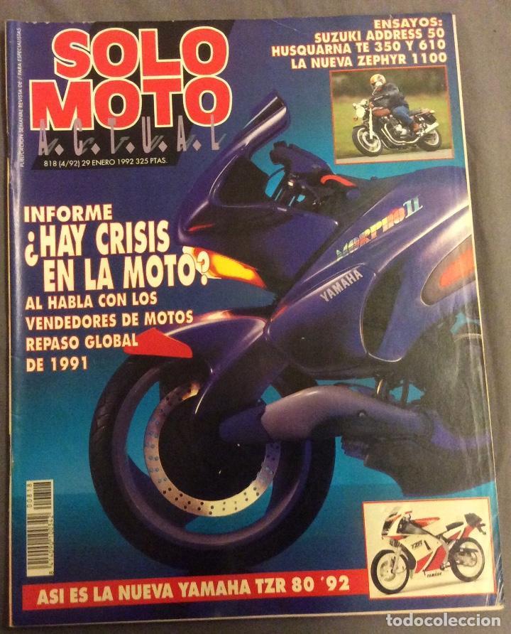 REVISTA SOLO MOTO. ENERO 1992 (Coches y Motocicletas - Revistas de Motos y Motocicletas)