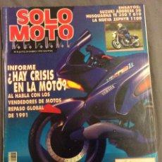 Coches y Motocicletas: REVISTA SOLO MOTO. ENERO 1992. Lote 90140072