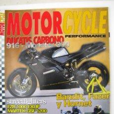 Coches y Motocicletas: REVISTA MOTORCYCLE PERFORMANCE Nº 22 - FOTO SUMARIO - TERROT HC4 - BULTACO SHERPA T Y MONTADERO-. Lote 90223724