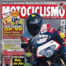Coches y Motocicletas: REVISTA MOTOCICLISMO Nº 1657 AÑO 1999. PRUEBA: APRILIA RSV MILLE R. YAMAHA YZ 250 (00). . Lote 103164866