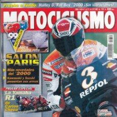 Coches y Motocicletas: REVISTA MOTOCICLISMO Nº 1650 AÑO 1999. PRU: HARLEY DAVIDSON FLSTF FAT BOY. YAMAHA R1 CARLOS CHECA.. Lote 90407684