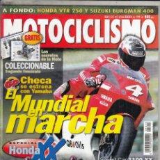 Coches y Motocicletas: REVISTA MOTOCICLISMO Nº 1615 AÑO 1999. PRUEBA: HONDA CBR 1100 XX. SUZUKI BURGMAN. HONDA VTR 250. . Lote 90408284