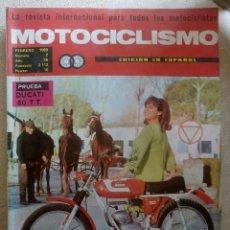 Coches y Motocicletas: REVISTA MOTOCICLISMO. PRUEBA DUCATI 50 T.T. FEBRERO 1969.. Lote 90425694