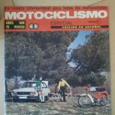 Coches y Motocicletas: REVISTA MOTOCICLISMO. ABRIL 1970.. Lote 90440214