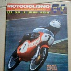 Coches y Motocicletas: REVISTA MOTOCICLISMO. JUNIO 1970. PORTADA ANGEL NIETO.. Lote 90448619