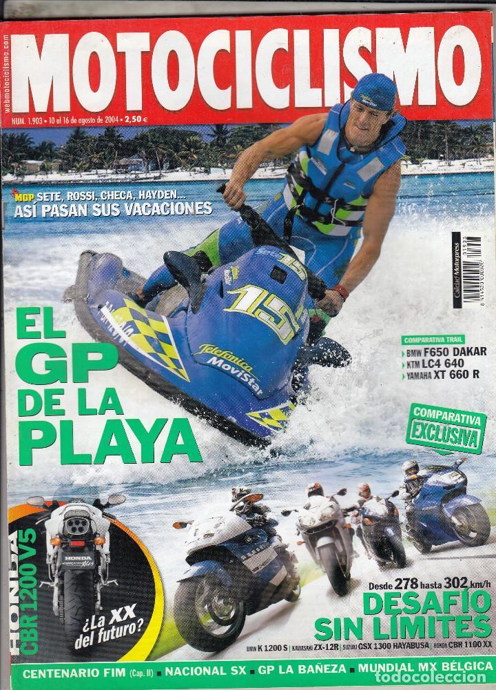 REVISTA MOTOCICLISMO N 1903 AÑO 2004. PRU: SYM EURO MX 125 DD. COMP: BMW K 1200 S, HONDA CBR 1100 XX (Coches y Motocicletas - Revistas de Motos y Motocicletas)