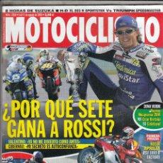 Coches y Motocicletas: REVISTA MOTOCICLISMO Nº 1850 AÑO 2003. PRU: APRILIA RSV 1000 FRACTORY. COMP: TRIUMPH SPEEDMASTER VS. Lote 235470270
