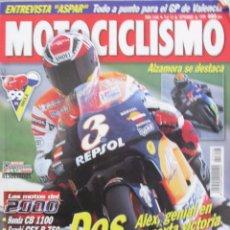 Coches y Motocicletas: MOTOCICLISMO 1646 1999 HONDA CB 1100, SUZUKI GSX-R 750, CAGIVA RAPTOR 1000, GUZZI V-11 SPORT, ASPAR. Lote 91271155