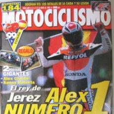 Coches y Motocicletas: MOTOCICLISMO 1629 1999 ALEX CRIVILLE, KENNY ROBERTS, ALZAMORA, SETE, HONDA SHADOW VT 125, YAMAHA TDR. Lote 91367975