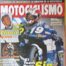 Coches y Motocicletas: MOTOCICLISMO 1586 1998 CHECA, LAVILLA, APRILIA RSV 1000, DUCATI 916, YAMAHA YZF R1, HONDA FORESIGHT. Lote 91369430