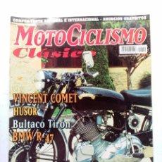 Voitures et Motocyclettes: MOTOCICLISMO CLÁSICO Nº 12 VINCENT COMET HUSOR BULTACO TIRÓN BMW R-47. Lote 91722370